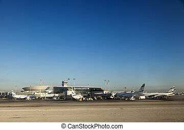 Israeli Planes at Ben-Gurion Airport - Lod, Israel - June...