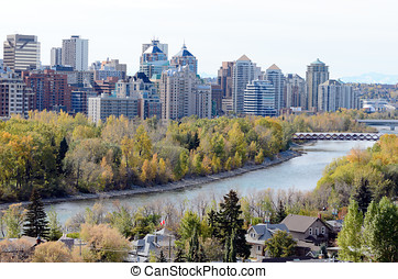 Calgary from McHugh Bluff Park - Calgary, Canada - October...