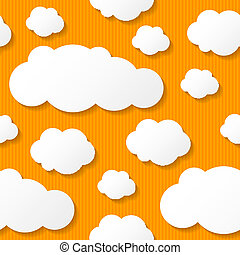 paper clouds, vector eps 10