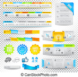Collection of web elements - Various templates - Collection...