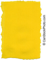 Yellow Fiber Paper - Torn Edges
