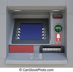 Cash Machine - Automatic Teller Machine with Blank Screen