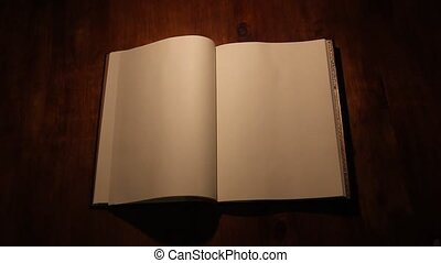 Blank book - Turning the page of a blank book