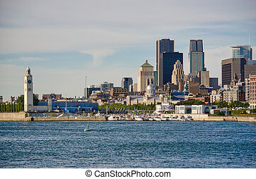 Montreal Cityscape - Montreal Skyline and Saint-Lawrence...
