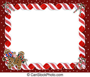 Christmas Border Cookies and Candy - Image and illustration...