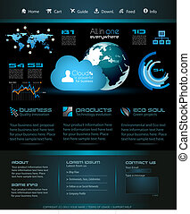 Modern web template for blogs - Modern web template with...