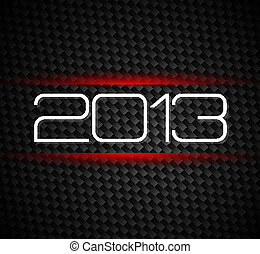 2013 hight tech style new year background over a carbonic...