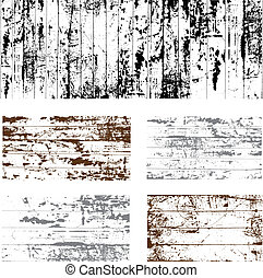 Vector Grunge Overlay Set. Easy to edit.
