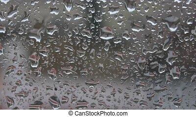 Rain falling on a crystal