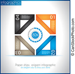 Paper shapes origami infographics - An elegant way to show...
