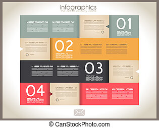 Infographic design - original paper tags - Infographic...