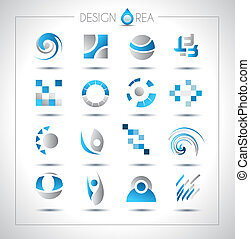 Set of design elements for your project Mixed abstract...