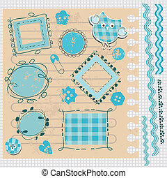 scrapbook kit with cute elements