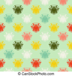 geometric pattern in spring colors - Vector seamless...