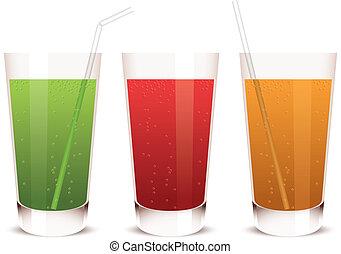 vector glass of juice