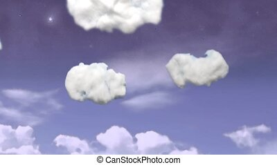 Rising above the clouds - Video animation made with cotton...