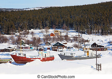 Pomeranian village Winter Landscape - Pomeranian village...