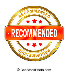 Recommended stamp on white background