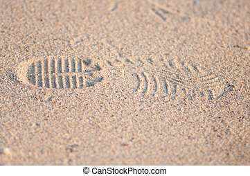 foot print - Foot print on the beach