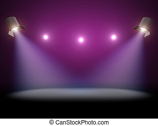 Scene lighting - Scene spot light illuminated stage 3d...