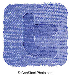 twitter icon - Grunge vector illustration of the twitter...