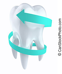 Tooth protection concept - clipping path included
