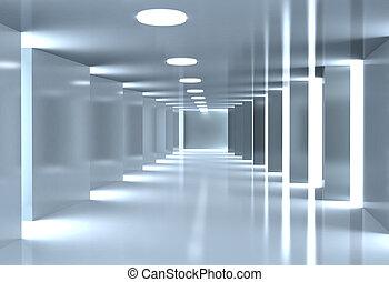 Modern corridor - Modern corridor, Architectural background...