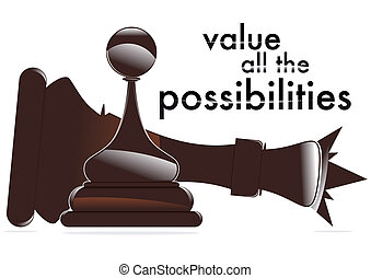 value all the possibilities - pawn that beats the king