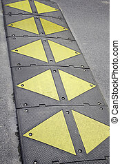 Bump signposted - Bump on road signposted for the protection...