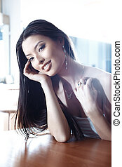 Jewelry - Elegant Asian lady with luxurious jewelry