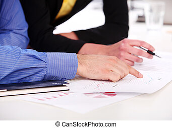 Hands of a businessman on a table
