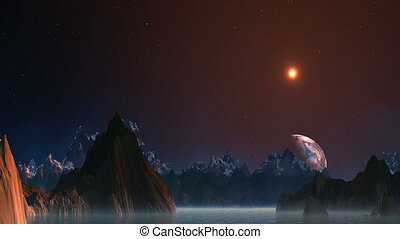 Planet floating because of mountain - The fantastic planet...