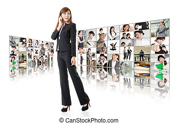 empresa / negocio, Conferencia, global, comunicaciones