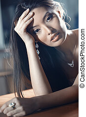 Jewelry - Elegant Asian lady with luxurious jewelry