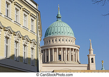 Potsdam, Germany - Panorama of historic buildings in...