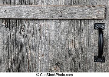 Old barn wood door - Distressed rustic barn wood door with...
