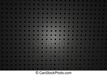 Abstract background with texture of  perforated metal plate.