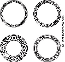 Design elements - Set of four black circle design elements