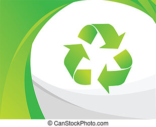 Vector recycle sign
