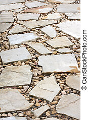 Cobblestone Pathway - Cobblestone pathway in close-up.
