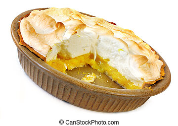 Lemon Meringue Pie - Home-baked lemon meringue pie, with a...