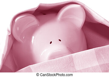 Under Cover Piggybank - Piggybank hiding under cover. Too...