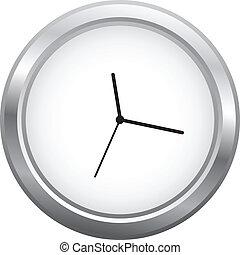 Minimalist Clock Isolated On White
