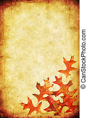 Fall Grunge Background - Grunge background with autumn...