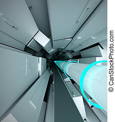 Hadron Collider - 3s Abstract interior of Hadron Collider...