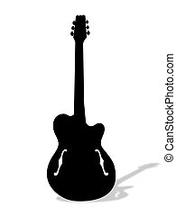 guitar - Illustration of guitar with shadow.