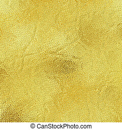 Gold foil - Gold metal foil yellow abstract crumpled texture...