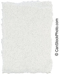 Fiber Paper Texture - White with Torn Edges - Texture of...
