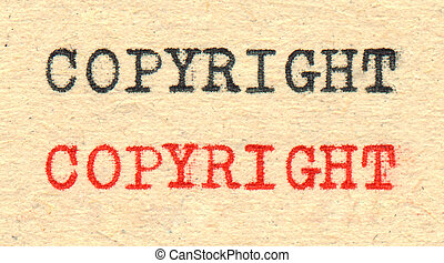 Copyright write black and red