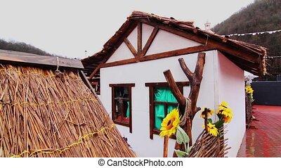 Adobe home, hut in russia. - Adobe hut.